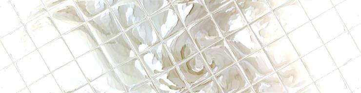 White peony enhanced with tiles